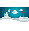 winter landscape - paper vector image