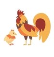 Cock and Chicken vector image
