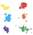 Colored blots Seth blots on a white vector image