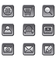 website buttons icon set vector image vector image