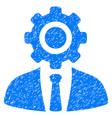 worker grunge icon vector image