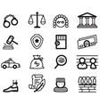 Justice icons vector