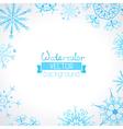 watercolor winter background vector image