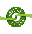 logo stamped healthy eating vector image
