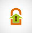 Logo real estate in the form of a door lock vector image