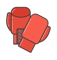 Pair of red boxing gloves vector image