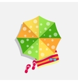 Beach Umbrella Icon vector image vector image