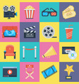 film icons set vector image