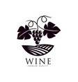 grapevine with ripe grapes and leaves icon vector image