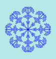 snowflake sign 2411 vector image