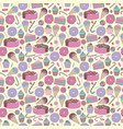 sweets stylized cute seamless pattern vector image