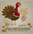 thanksgiving turkey background happy thanksgiving vector image