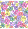 vector seamless pattern of flowers vector image