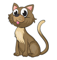 A smiling cat vector image