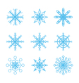 snowflakes icons set vector image