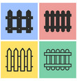 fence icon set vector image