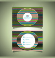 business card with a striped design vector image