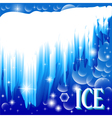 background with brilliant ice vector image