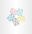 postal envelopes icon design vector image