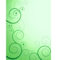 Abstract floral pattern green frame vector image