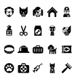 Pets icons vet clinic icons and veterinary vector image