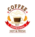 The best espresso in town badge for cafe design vector image vector image