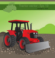 agricultural tractor transport for farm vector image