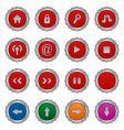 button plates vector image