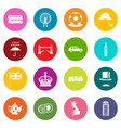 great britain icons many colors set vector image