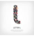 group people shape letter L vector image