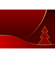Modern Red Abstract Christmas vector image