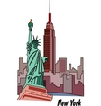 New York poster vector image