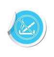NO smoking BLUE LABEL vector image