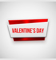 Red Abstract Valentines Day Badge vector image