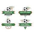 sport logotype football academy indoor cup soccer vector image