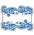 Wave frame vector image
