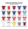 English Premier League 2016 - 2017 football vector image