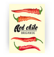 cartoon chile pepper card ripe red vegetable vector image