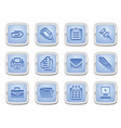 business and office icon set vector image