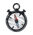 color crayon stripe image stopwatch icon vector image