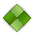 business four squares green vector image vector image