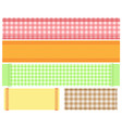 checkered fabric gingham vector image vector image