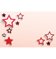 abstract star template vector image