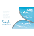 Zipper with a blue sky background vector image