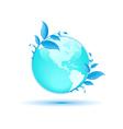 blue globe concept vector image