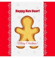 Christmas cookies in the shape of a gingerbread vector image