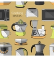 Cooking devices pattern vector image