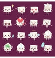Envelope character emotions face vector image