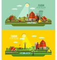 Farm in the village Set of elements - barn vector image