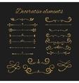 Golden dividers set Ornamental decorative vector image